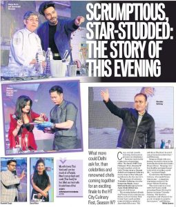 Coverage today in #htcitydelhi of the Grand Finale of HT Culinary Fest-2018